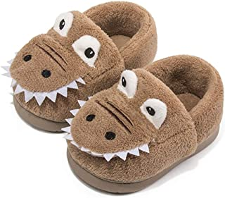 Nasogetch Boys Girls Slippers Kids House Shoes Plush Winter Slippers Cute Dinosaur Cartoon for Children Toddler Warm and Soft