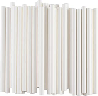 ALINK Extra Wide White Paper Boba Smoothie Straws, 12mm Large Biodegradable Jumbo Big Fat Bubble Tea/Milkshake Party Straws, Pack of 50