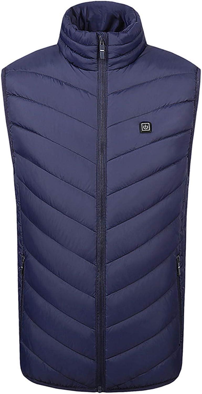 HUJIN 9 Heating Zones USB Electric Heated Vest Jacket Coat, Winter Smart Heated Jacket ClothesOutdoor Sport Heated Vest (Mobile Power Not Included)