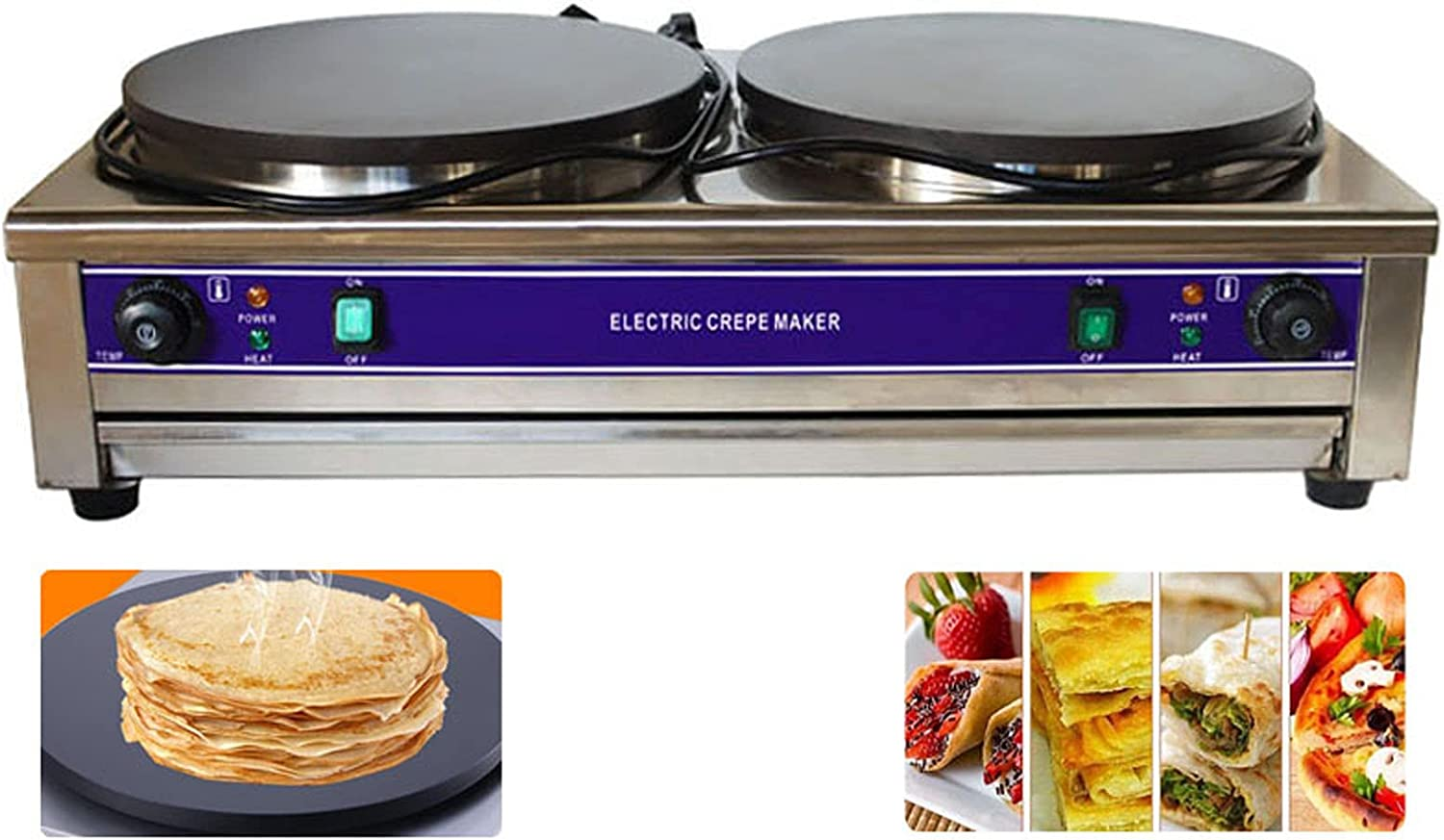 INTSUPERMAI Commercial Crepe Fees free Ranking TOP13 Maker Panc and Electric