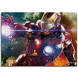 CCBRA 1000 Piezas de Personajes de la película Iron Man Juego Educativo Rompecabezas Rompecabezas de Juguete Tienda Hotel Familia decoración Especial Rompecabezas de Madera