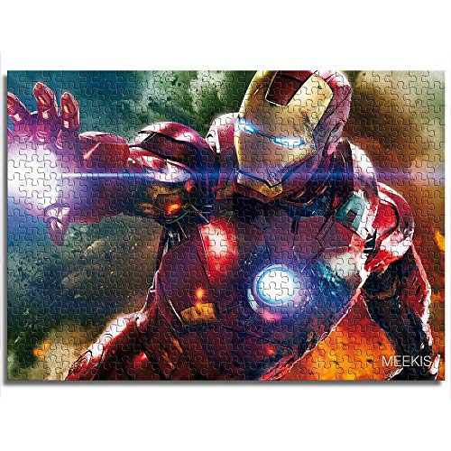 1000 piezas de personajes de la película Iron Man Juego educativo rompecabezas rompecabezas de juguete Tienda hotel familia decoración especial Rompecabezas de madera