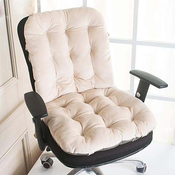 Thicken Long Seat Cushioning High Back Nonslip One Piece Chair Cushion Stuhlkissen For Car Office Chair Pad Beigea 43x80cm 17x31inch