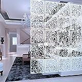 Y-Step Biombo separador de habitación colgante panel para decoración del hogar, hotel, oficina, bar (patrón C)