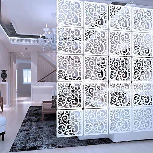 Y-Step Hängender Raumteiler, Paravent, Hängepaneel für Zuhause, Hotel, Büro, Bar, Dekoration, 12 Stück Pattern C,Holz Kunststoffplatte