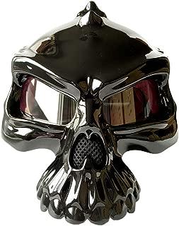 Motorcycle Helmet Half Helmet Skull Shape Professional Protection Strong Anti-Collision D.O.T Safety Standard Men And Women Trend Creative Helmet (M, L, XL, XXL),XL