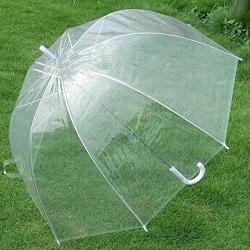Transparent Clear Rain Umbrella Parasol PE Dome for Wedding Party Favor