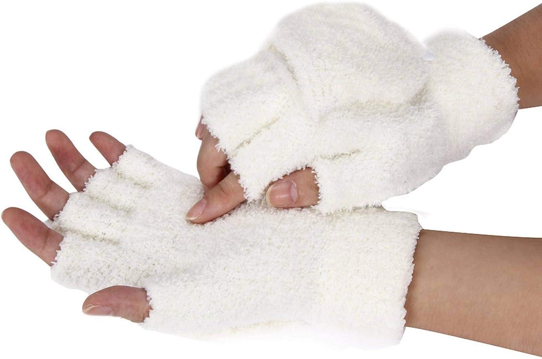 NC Comfort Soft Feather Velvet Girls Gloves,Women Hand Wrist Warmer Winter Fingerless Gloves Mitten Wrist-Length Guantes