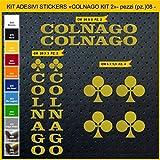 Adesivi Bici COLNAGO_Kit 2_ Kit Adesivi Stickers 08 Pezzi -Scegli SUBITO Colore- Bike Cycle pegatina cod.0853 (091 Oro)