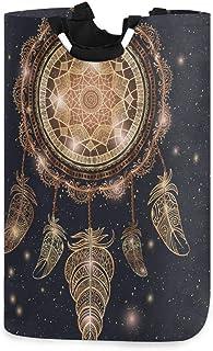 ALARGE Panier à Linge Motif Galaxie Tribal Ethnique Tribal Attrape-rêves Pliable Durable Panier à Linge Sac de Rangement P...