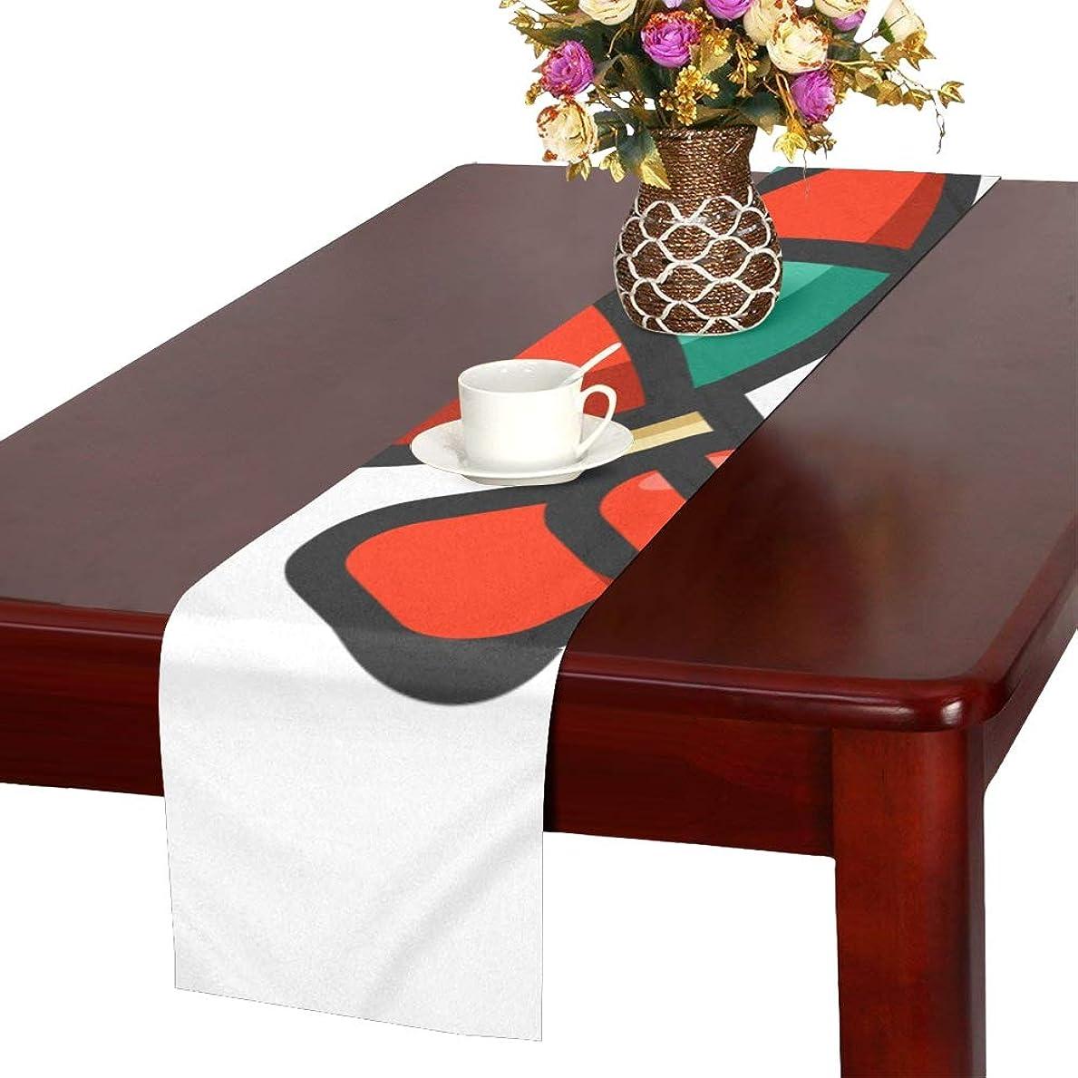 豆床漫画LKCDNG テーブルランナー かわいいペロペロキャンディ クロス 食卓カバー 麻綿製 欧米 おしゃれ 16 Inch X 72 Inch (40cm X 182cm) キッチン ダイニング ホーム デコレーション モダン リビング 洗える