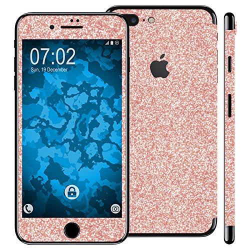 Preisvergleich Produktbild PhoneNatic 2er-Pack Displayschutzfolien Glitzer Roségold kompatibel mit Apple iPhone 7 / 8 / SE 2020