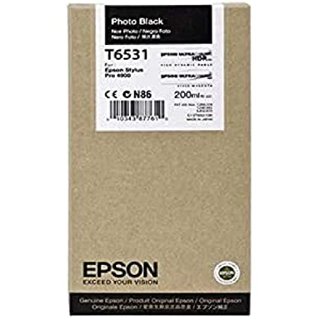 Epson UltraChrome HDR Ink Cartridge - 200ml Photo Black (T653100)