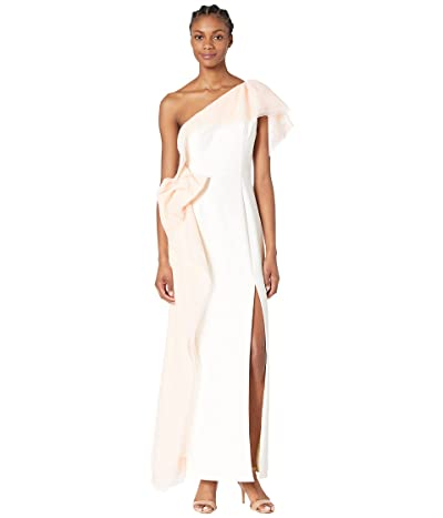 BCBGMAXAZRIA One Shoulder Gown with Tulle