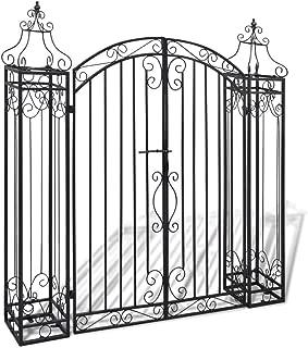 Amoui Ornamental Garden Gate Wrought Iron 4'x8 x4' 5