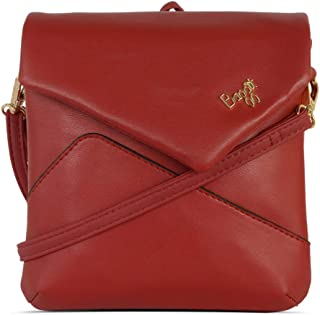 Baggit Autumn/Winter 2020 Faux Leather Women's Haversack Handbag (Red) (Enlarge)