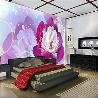 Pbldb 3D Photo Murals Wallpaper Dream Rose 3D Flower Mural for Bedroom 3D Wall Photo Mural Wall Paper 5D Murals-280X200Cm