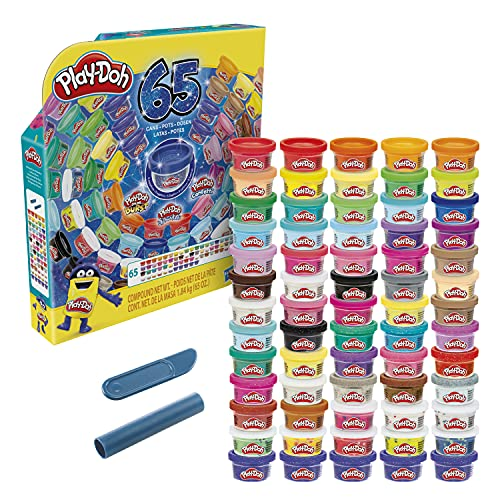 Play-Doh Ultimate Color Collection 65-Pack of Modeling Compound for Kids 3 Years and Up, Non-Toxic, 1-Ounce Fun Size Cans, Includes Sapphire, Sparkle, Confetti, Metallic Colors, and Color Burst