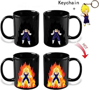 Vegeta Dragon Ball Z Changing Coffee Ceramic Cup Mug With Free Keychain