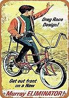 マレーエリミネーター自転車ティンサイン装飾ヴィンテージ壁金属プラークカフェバー映画ギフト結婚式誕生日警告用レトロ鉄絵