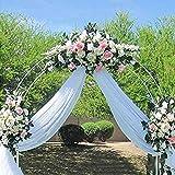 Arco de Boda, Arco de jardín, cenador de Rosas, cenador de pérgola de Metal al Aire Libre para Plantas trepadoras, Enredaderas de Rosas, Negro