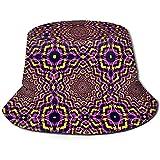 Sombrero de Cubo Unisex Patrón de caleidoscopio Impreso Sombrero para el Sol al Aire Libre Gorra de Viaje de Verano al Aire Libre Negro