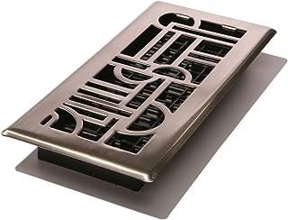 Decor Grates ADH410-NKL Art Deco Floor Register, Brushed Nickel, 4-Inch by 10-Inch (Renewed)