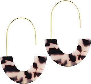 Acrylic Earrings Statement Tortoise Earrings Resin Drop Dangle Earrings Fashion Jewelry For Women