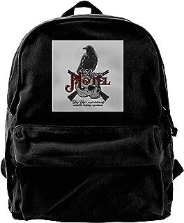 Canvas Backpack Raven Hotel Altered Carbon Rucksack Gym Hiking Laptop Shoulder Bag Daypack for Men Women
