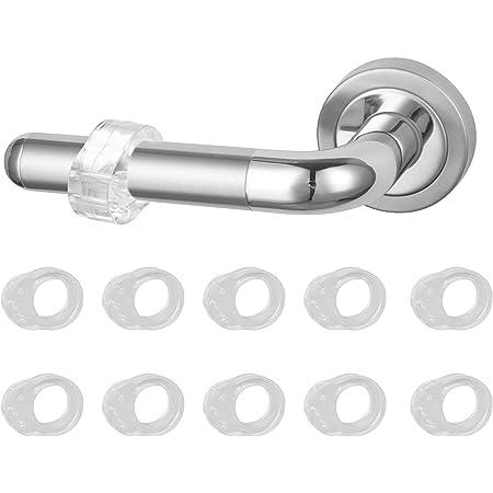 VABNEER PVC Topes de Puerta Silicona 10 Pack Manija de la puerta de parachoques Topes de Puerta Silicona Flexiblepara Proteger la Integridad de Paredes&Muebles (Transparente)