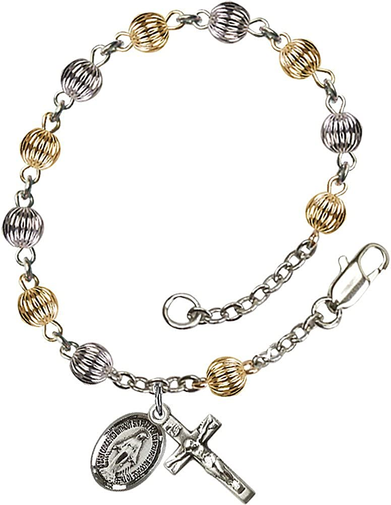 Bonyak Jewelry Max 74% OFF Sterling Inventory cleanup selling sale Silver Bracelet 5mm Silv Rosary