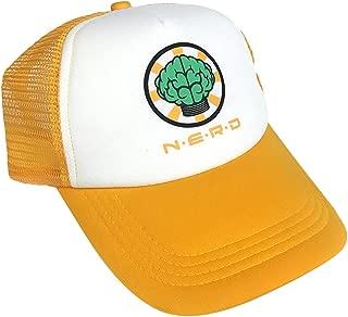 Nerd Trucker Hat Gold Neptunes Pharrell Williams Nerd N.E.R.D. Band Hip Hop