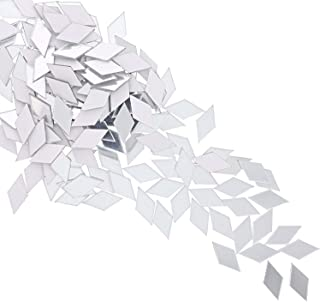 Juvale Diamond Adhesive Mirror Tiles for Wall Decor (150 Count)