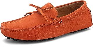 Hombres Suave Gamuza Mocasines de Conducción Zapatos Hecho a Mano Pantuflas Talla Grande