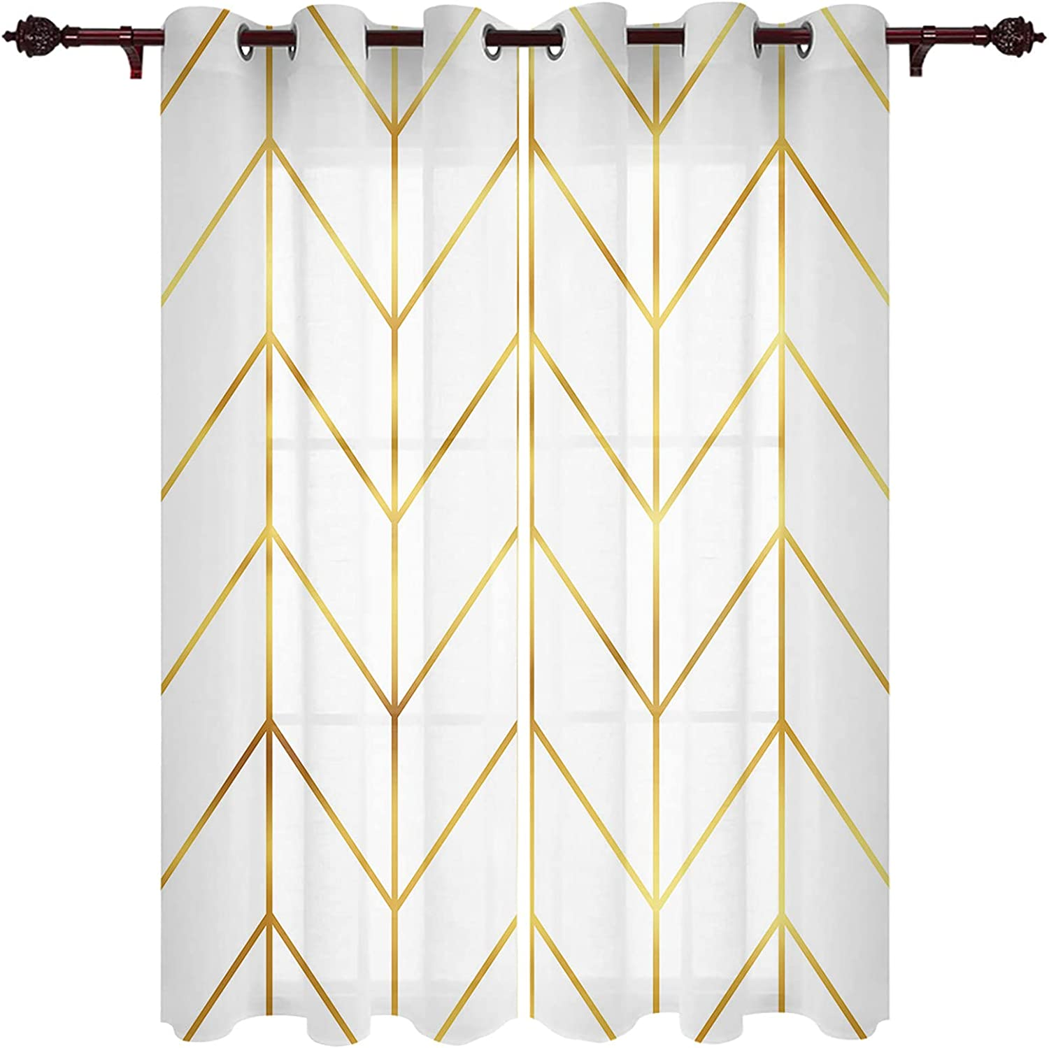 Semi Classic Sales for sale Sheer Curtain Window Treatment Living Panels for Ro