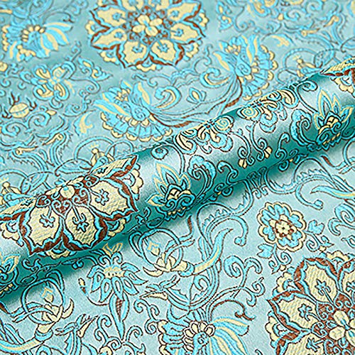 MUYUNXI Tela De Raso Forro De Tela para Vestidos De Novias Fundas Artesanas Vestidos Blusas Ropa Interior 75 Cm De Ancho Vendido por Metro(Color:Agua Azul)