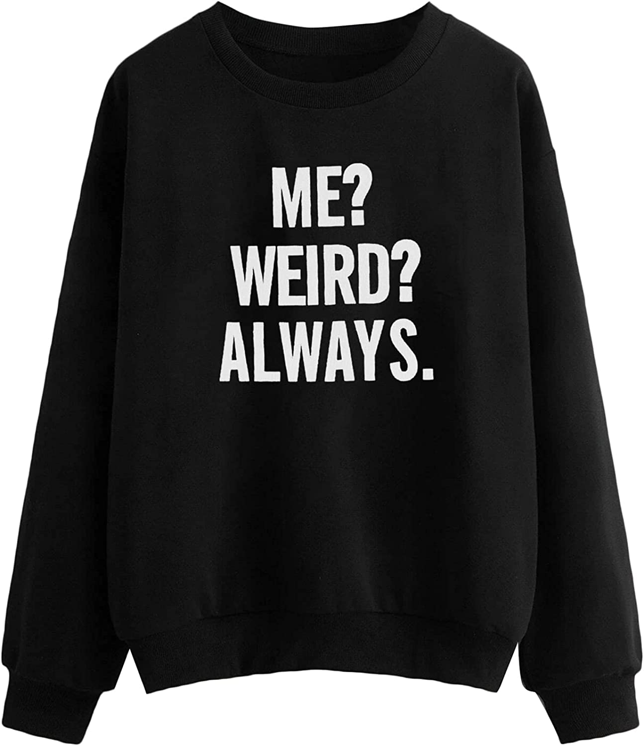 SOLY HUX Women's Plus Size Letter Print Long Sleeve Top Pullover Sweatshirt