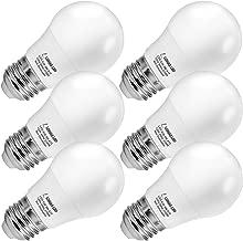 LOHAS LED A15 Bulb, 5W LED Light Bulb 40W Equivalent, Brightness Lighting E26 Edison Bulbs, Warm (2700k), 450LM Lights, Not-Dimmable LED Replace for Ceiling Fan, Refrigerator Appliance Bulb, 6 Pack