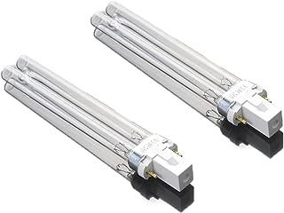 AQUANEAT 9 Watt UV Replacement Bulb 2 PCS G23 2 Pin Base for SUNSUN Canister Filter UV Sterilizer JUP-01 HW-304B