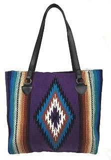 Southwest Ladies Serape Purse Tote San Carlos Shopper Soft Colorful Design CC