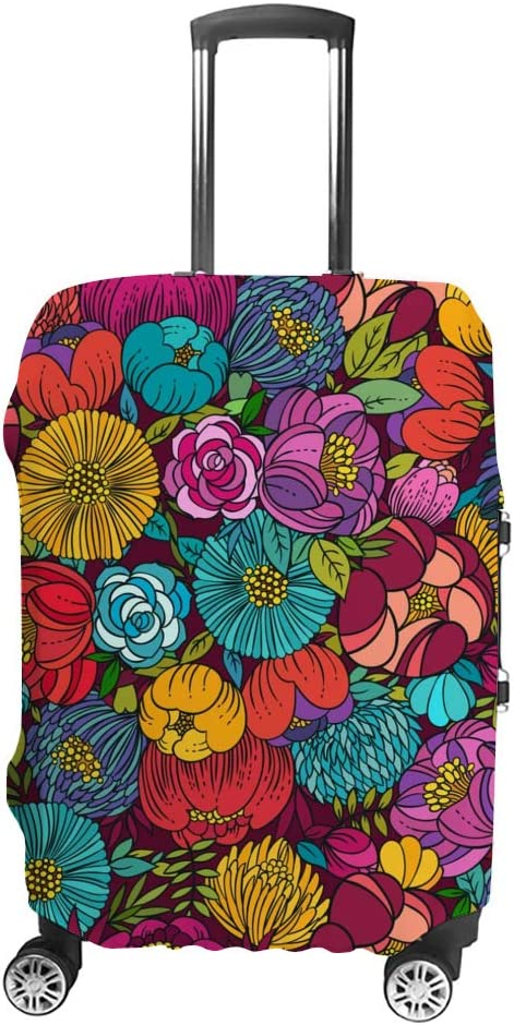 Miami Mall 70% OFF Outlet ZHONGJI Luggage Cover Beautiful Wash Pattern Thickened Floral