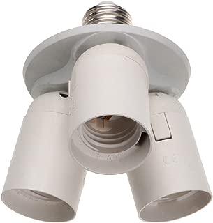 ABI 3 to 1 Light Socket E26 Splitter Lamp Base Adapter for Standard LED and CFL Bulbs
