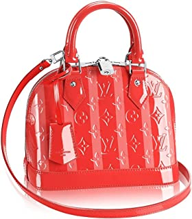 c793e3707ac3 Authentic Louis Vuitton Monogram Vernis Alma BB Cross Body Handbag Article   M90968 Poppy Made in