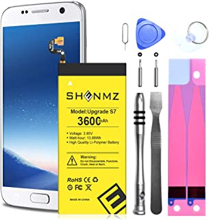 Galaxy S7 Battery,[Upgraded] 3600mAh Li-Polymer Replacement Battery for Samsung Samsung Galaxy S7 G930 G930V G930A G930T G930P with Full Replacement Kits [12 Month Warranty]