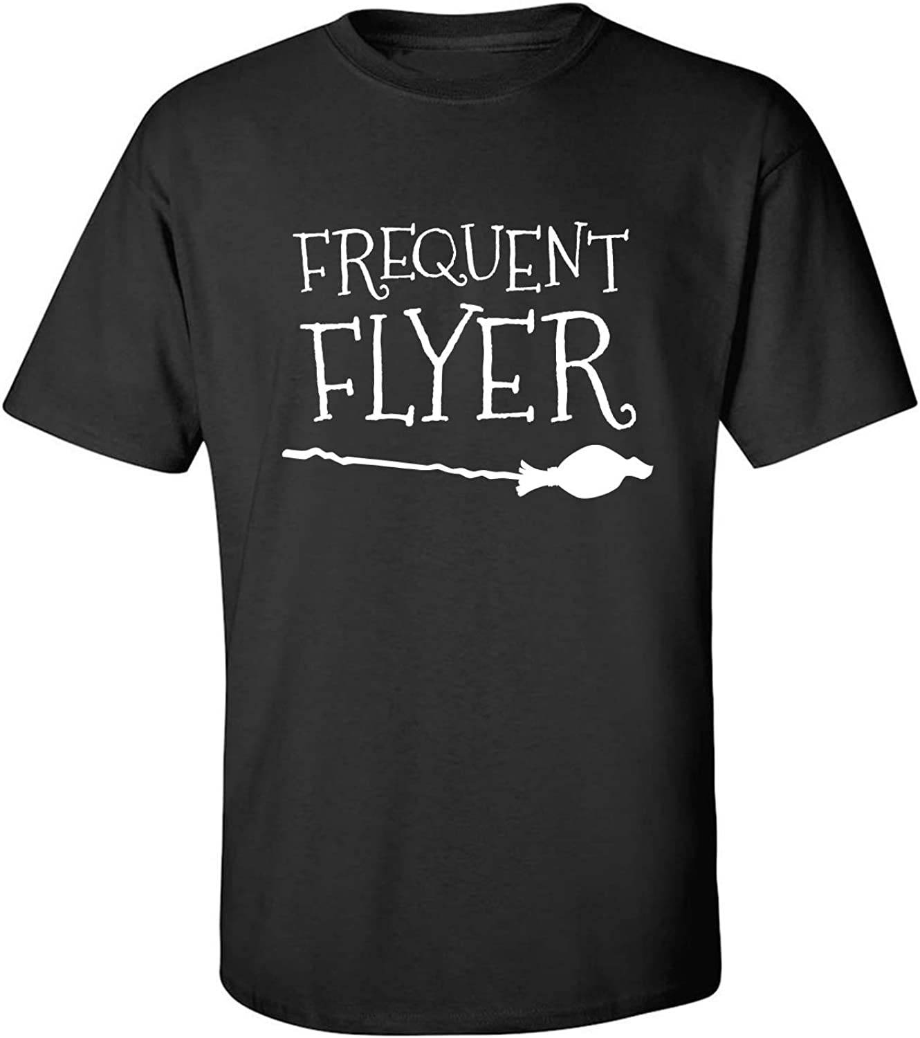 Frequent Flyer Adult T-Shirt in Black - XXXX-Large