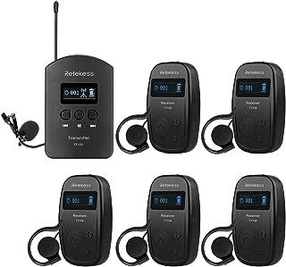 Retekess TT103 Church Translation Wireless Tour Guide System Audio Interpretation 460ft 140m Range for Tour Church Court(1 Transmitter and 5 Receiver)