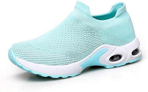 Turnchaussures Chaussures pour Femmes, Chaussures à Bascule battant Chaussures de Sport tissées à Haute résistance,B,35