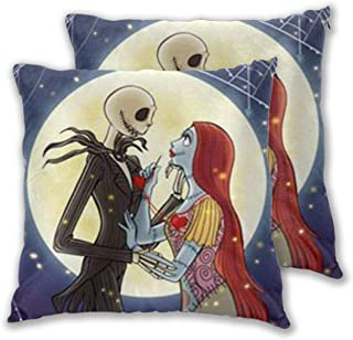LBAOZHEN Tim Burton's Corpse Bride Set of 2 Soft Cozy Decorative Throw Pillow Covers Sofa Throw Pillow Cover - Square Decorative Pillowcase