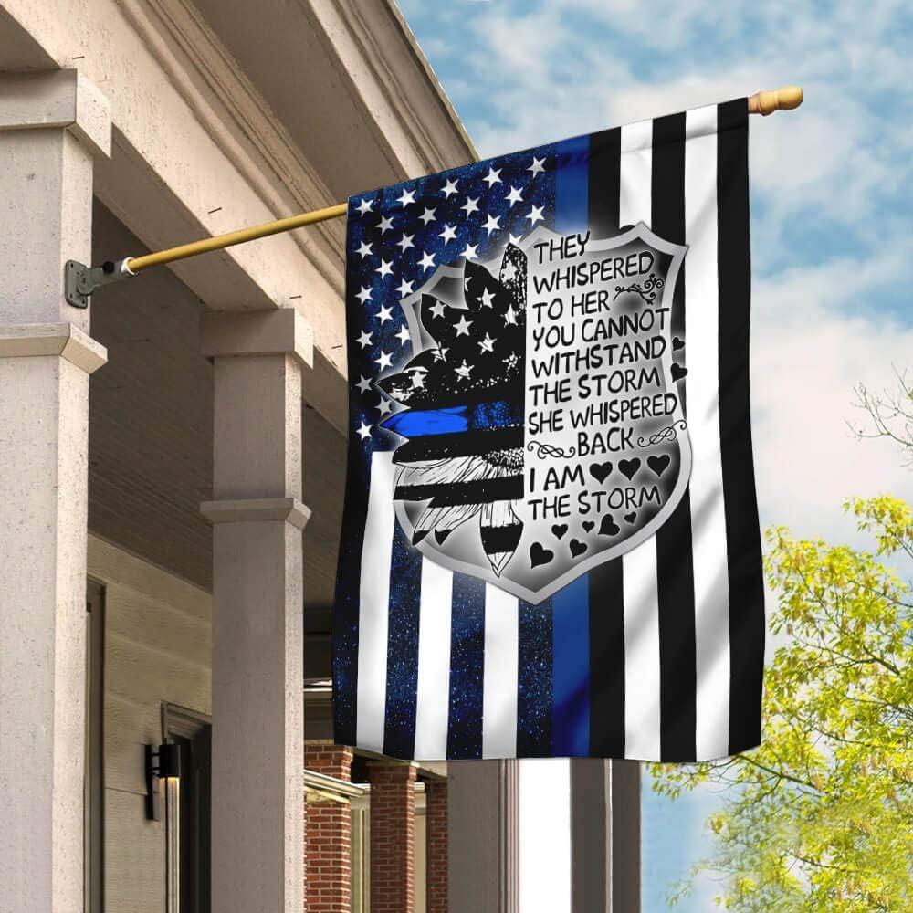 Flags-I Am The 割引も実施中 Storm Female Police PSL13F House Flag Officer 2020モデル Fl