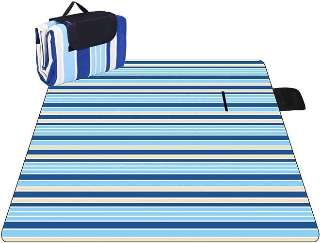 Couverture de pique-nique extérieure imperméable de tapis de pique-nique, fourre-tout imperméable à l'eau de couverture de sable et de pique-nique pour camper l'herbe voyageant